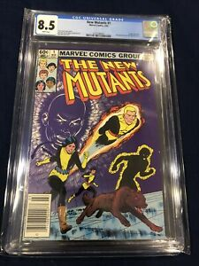 New Mutants #1 CGC 8.5 White Pages - Origin of Karma - Newsstand edition - 1983