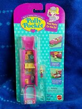 1995 VINTAGE POLLY POCKET POOL PARTY on the GO CADILLAC VEHICLE SET Bluebird