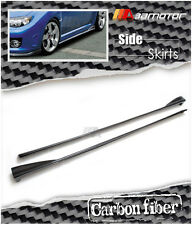 Carbon Fibre Side Skirt Extensions for 08-14 Subaru Impreza WRX STi Wagon Sedan