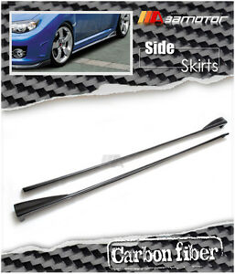 Carbon Fibre Side Skirt Extension fits 08-14 Subaru Impreza WRX STi GR Hatchback