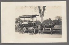 Real Photo Postcard Hyannis, Mass. Area Delivery Wagon E.W. Lincoln Groceries