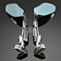 Chrome Billet Rear View Side Mirrors for GSXR 600 750 Hayabusa CBR600 1000RR F4i