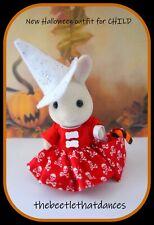 Sylvanian Families Clothes, New Halloween Dress set A For CHILD Rabbit,Cat,ETC
