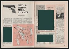 1962 Smith & Wesson Model 52 Pistol Exploded View Parts List Assembly Article