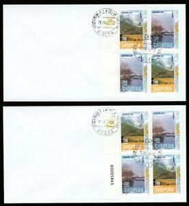 ALBANIA EUROPA 2004 2 TYPES BOOKLET PANES 15.03.2005 CANCEL. COVERS, CV 40 EURO+