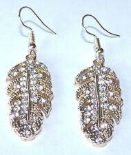 New Feather Earrings with Fashion Diamonds Fast Free Shipping from the USA