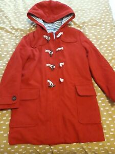 Boden Red Duffle Coat Age 9-10