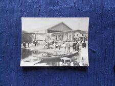 RARA ++ AVIAZIONE FOTO VARESE 1917 IDROVOLANTE ANIMATA CM 11 X CM 8