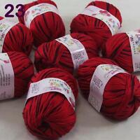 Sale lot 8 Skeins x50g Cashmere Silk Wool Children hand knitting Crochet Yarn 23