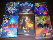 Disney DVD Lot: 10pc  Beauty &  Beast, Aladdin, Peter Pan Sleeping Beauty & more