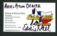 Eddie Hill signed autograph Eddie Hill's Fun Cycles Owner Business Card BC425