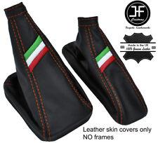 ORANGE STITCH ITALIAN FLAG REAL LEATHER BOOT SET FOR ALFA ROMEO MITO 2008-2017