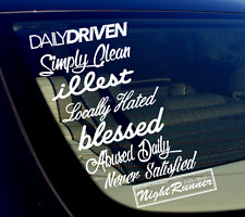 JDM Decal Bomb Sticker Pack Lot of 8 Drift Stance Lowered Vinyl Car (8PKNS)