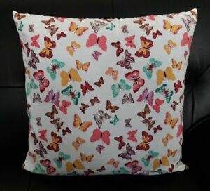 Brand New Very Well Hand Made Butterfly design cushion cover 18 x 18 inches