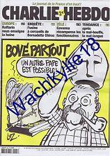 Charlie Hebdo n°587 du 17/09/2003 José Bové Pape Luz
