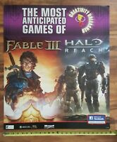 HALO Reach FABLE III X-Box 360 E3 Store Display Video Game Promo Sign Poster RP