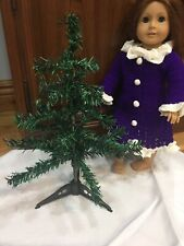 """Mini Christmas Tree Fits 18"""" American girl Doll Holiday Accessories Background"""