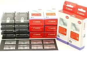 【Unbenutzt IN Karton 8 Typ 】 Canon Ec Fokussierung Bildschirm Für EOS-1 1N 3 1V