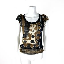 New listing Jean Paul Gaultier Vintage Maille Femme Mesh Spade Playing Card Top Italy M