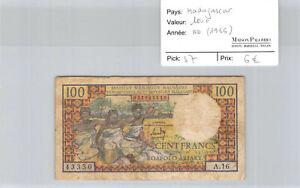 Nouvelle Calédonie 100 Francs ( Nouméa) ND 1969 rare F1 pick 59