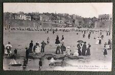 CPA. LE PORTEL. 62 - Panorama de la Plage et du Bourg. Jeux Enfants. 1911.