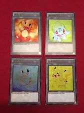 Pokemon Set of Kanto Starters Custom Ultra Rare Yugioh Tokens FREE SHIPPING