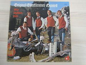 LP / ORIGINAL OBERKÄRNTNER QUINTETT / WIR LADEN EIN / AUSTRIA / RARITÄT /