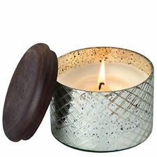 Diamond Etched Glass Small With Sacred Temple Garden Fragrance Candle A28043