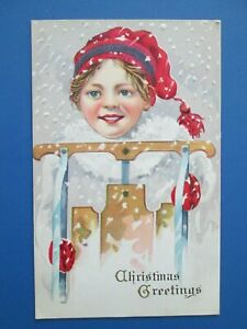 Antique Embossed Christmas Postcard