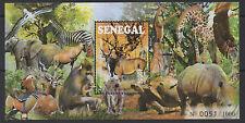 Senegal 2015 Sheetlet endangered Fauna mammals Birds Block MNH** Mi. Bl. 109