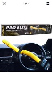 Stoplock Pro Elite Premium Steering Wheel Immobiliser Lock Deep Bend Anti Theft