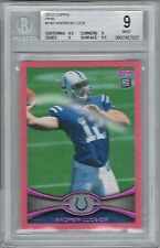 2012 Topps ANDREW LUCK # 140 Pink #d 195/399 (BGS 9 MINT) RC Rookie (037