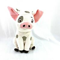 "Disney Store Moana Pua Pig Talking Plush Toy Rare Plush 13"" Sitting Moving WORKS"