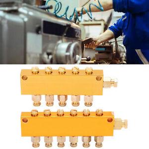 Adjustable Oil Distributor Brass Lube Piston Separator Divider Valve Lubrication