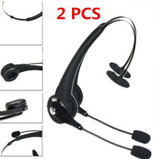 2PCS Noise Cancelling Wireless Handsfree Bluetooth Boom Mic Headset For Trucker~