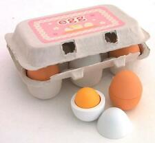 Easter Wooden Toy Pretend 6 Egg with Yolk Kids Party Favor Supply Bag Prize Gift