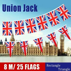 Anniversary Polyester Fabric Stripes Union Jack Union Flag Banner Bunting
