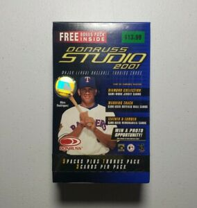 2001 Donruss Studio Baseball Box - New & Sealed