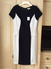 Bnwt Papaya Weekend Ladies Pencil Dress Size 12 Black & White Lined