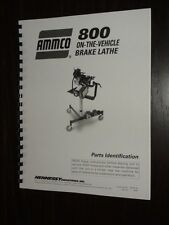 Ammco 800 On-The-Vehicle Brake Lathe Parts Manual
