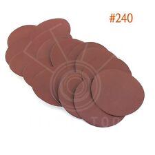 "25x 240Grit 6""inch Sanding Discs Hook Loop Sandpaper Sand Sheets Polish Rotary"