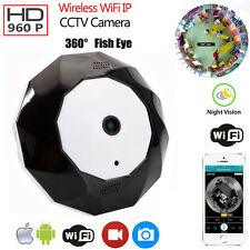960P HD 360 Degree WiFi Webcam IP Camera Security Network Panoramic View IR-CUT