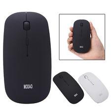 ULTRA FINO recargable 2.4ghz GHz Óptico Inalámbrico Ratones Mouse para PC