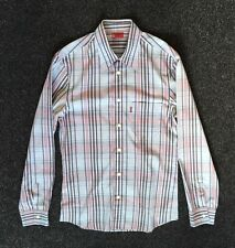 RED LABEL LEVIS SHORT SLEEVE CHECK SHIRT SIZE SMALL