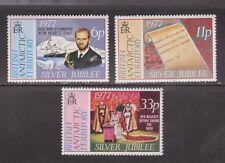 QEII 1977 SILVER GIUBILEO Gomma integra, non linguellato Stamp Set territorio antartico britannico SG 83-85