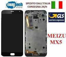 TOUCH SCREEN VETRO + LCD DISPLAY + FRAME Per MEIZU MX5 NERO - BLACK   ORIGINALE