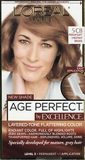 L'oreal Paris Age Perfect Excellence Hair Color 5CB Medium Soft Chestnut Brown