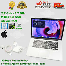 "READ!!🔥 MacBook PRO 15.4"" 2TB SSD 16GB RAM i7 2.7GHz GeForce Apple Laptop > 1TB"