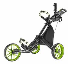 Lime CaddyTek CaddyLite EZ-Fold 3 Wheel Golf Push Cart