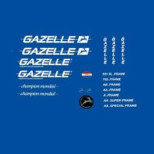 Gazelle 1980s Champion Mondial Bicycle Decals, Transfers, Stickers n.310